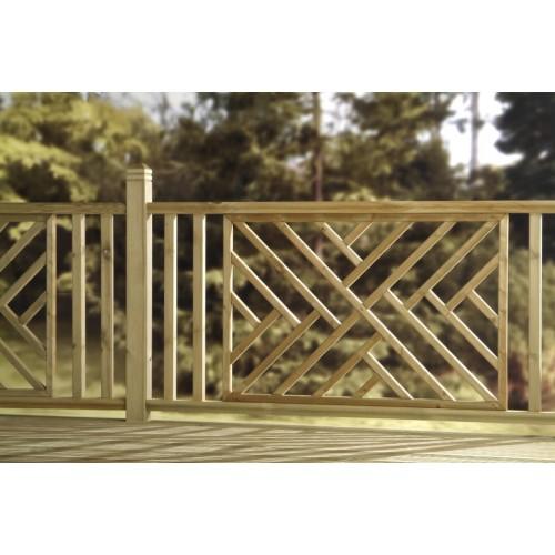 Wood Deck Panels ~ Cross hatch panel