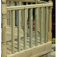 Decking Kit with Balustrade ~ 1.8m x 1.8m