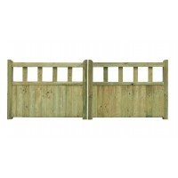 Fortress Wooden Driveway Gates 0.9m high