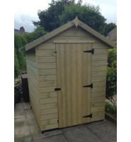 6ft x 4ft Tanalised Apex Garden Shed Range