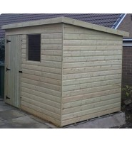 7ft x 5ft Tanalised Pent Garden Shed Range