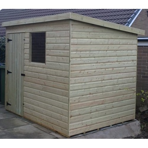 6ft x 4ft tanalised pent garden shed range