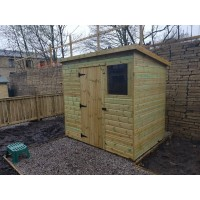 Tanalised Pent Garden Shed Range
